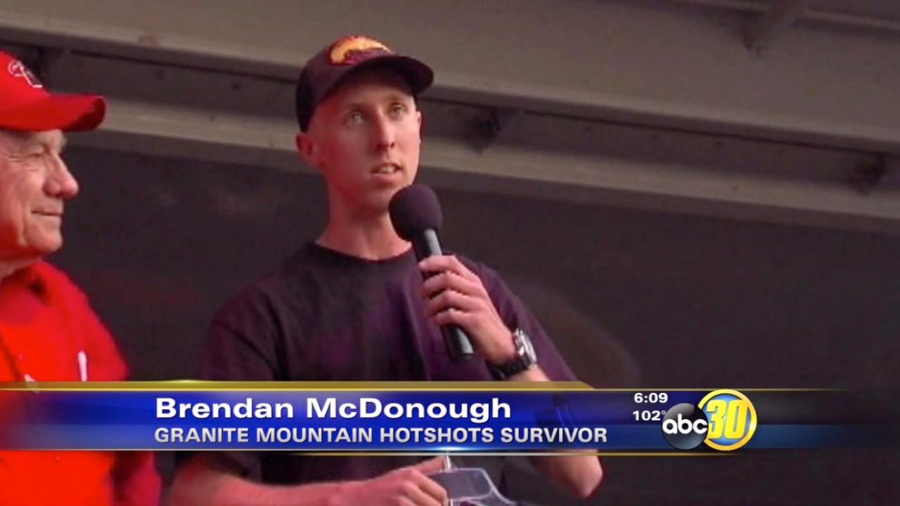 Surviving Yarnell hotshot speaks to community