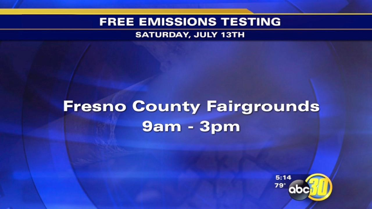 Free emissions tests this weekend