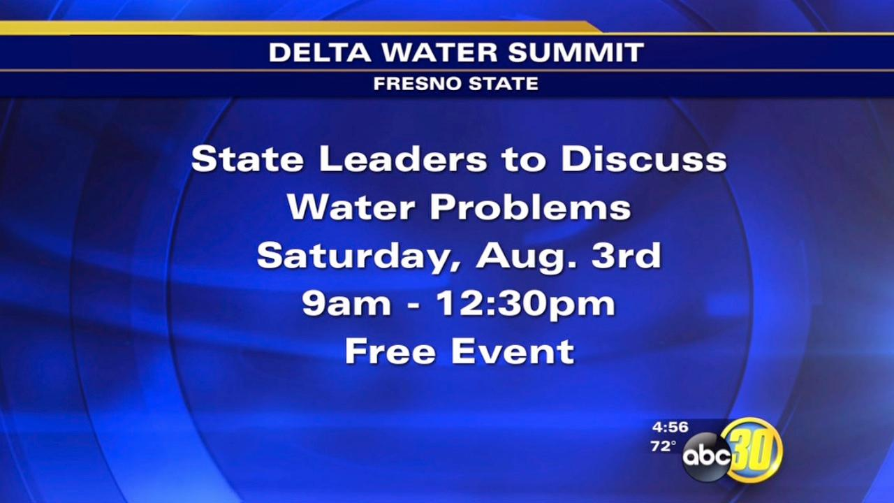 State leaders to meet at Fresno State for Delta Water Summit