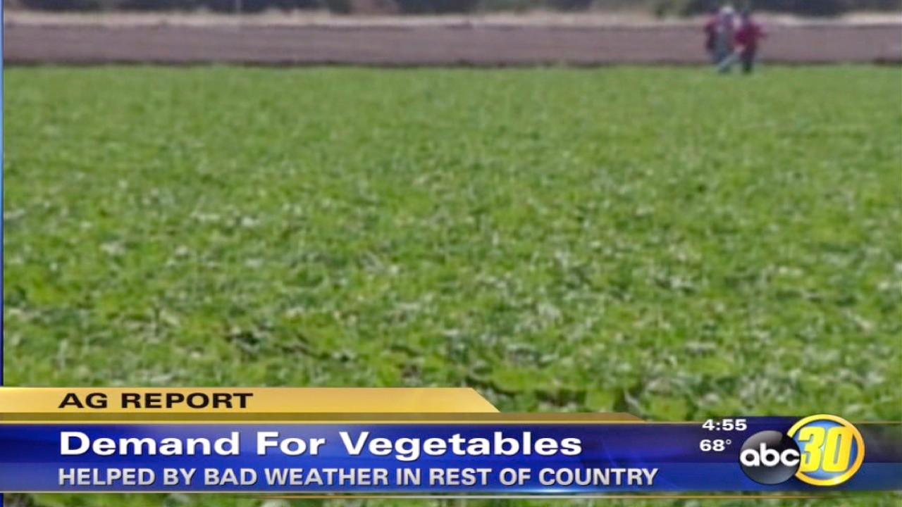 California vegetables in demand as prices increase