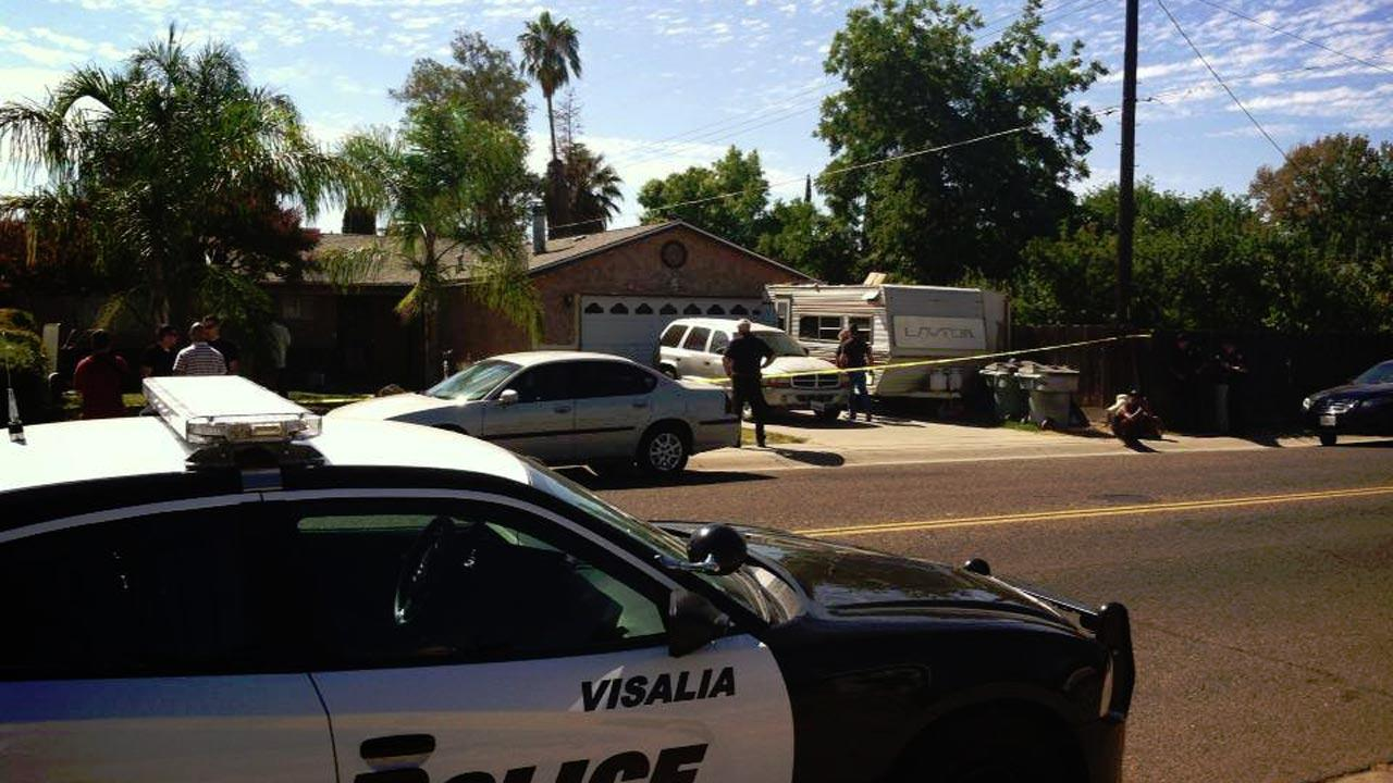 Man shot several times outside his Visalia home