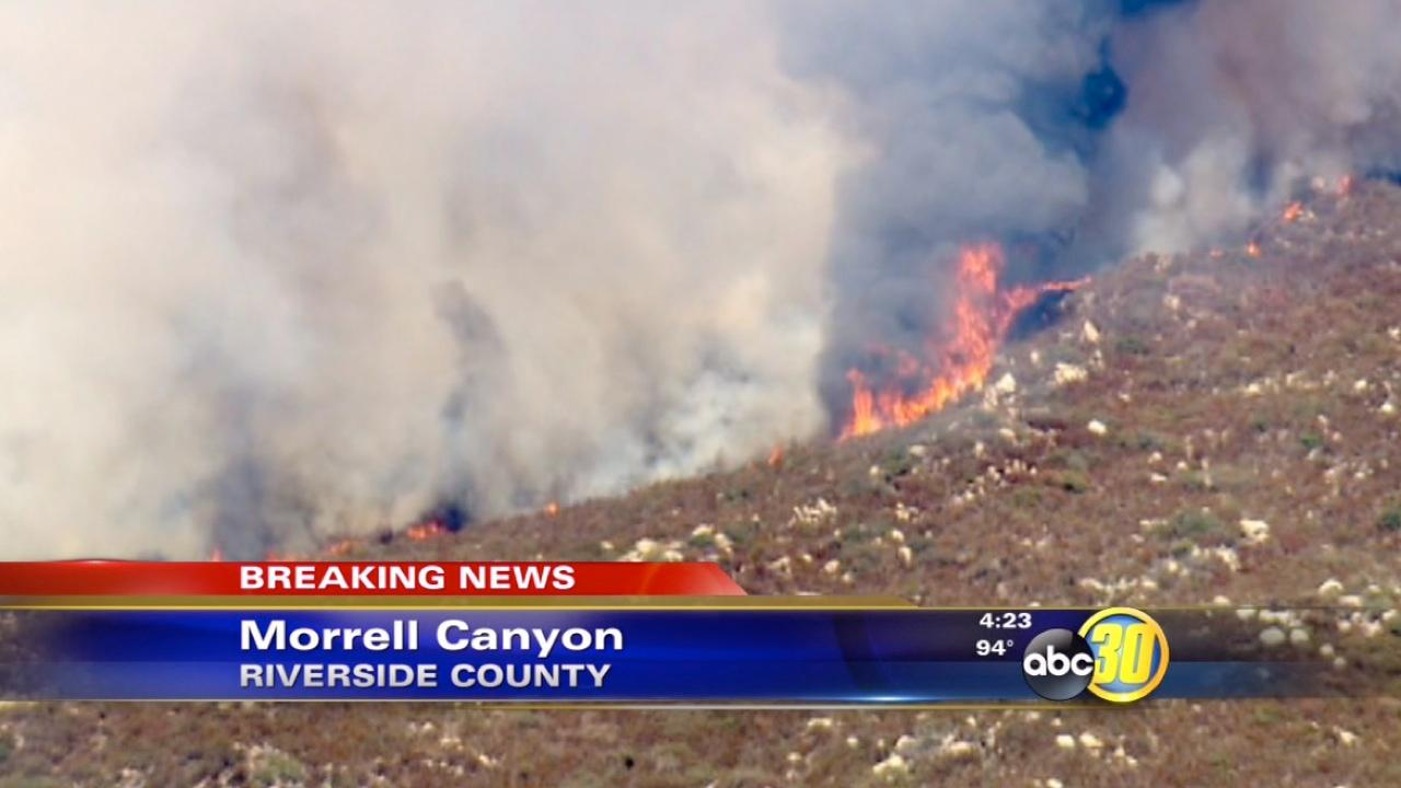 Falls Fire in Riverside County prompts evacuations