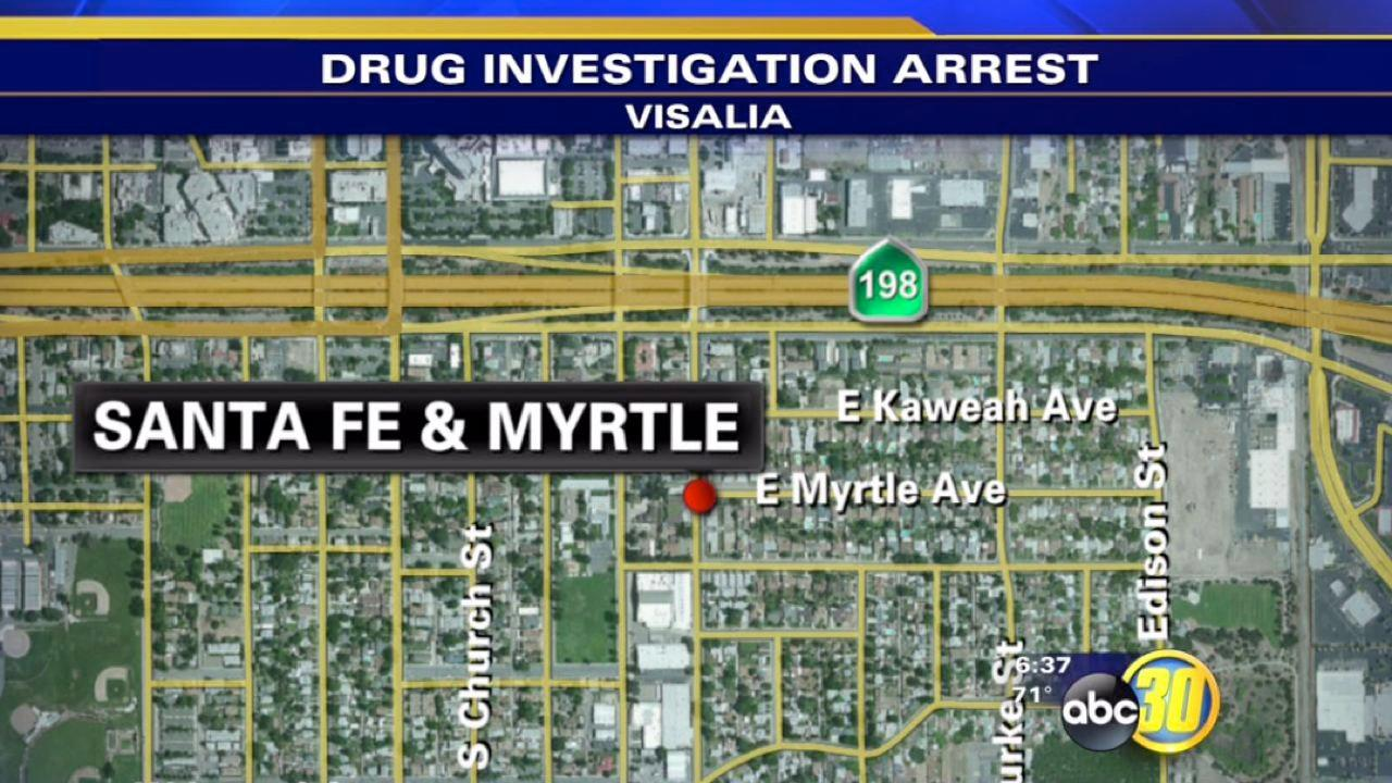 Visalia man arrested after drugs, bomb found