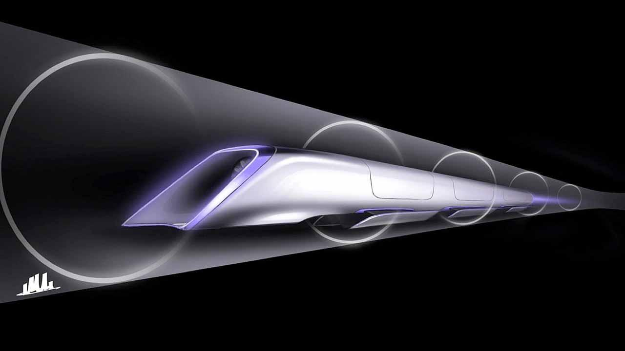 An image released by Tesla Motors, is a conceptual design rendering of the Hyperloop passenger transport capsule. Billionaire entrepreneur Elon Musk on Monday, Aug. 12, 2013 unveiled a concept for a transport system he says would make the nearly 400-mile trip in half the time it takes an airplane. The Hyperloop system would use a large tube with capsules inside that would float on air, traveling at over 700 miles per hour. (AP Photo/Tesla Motors)