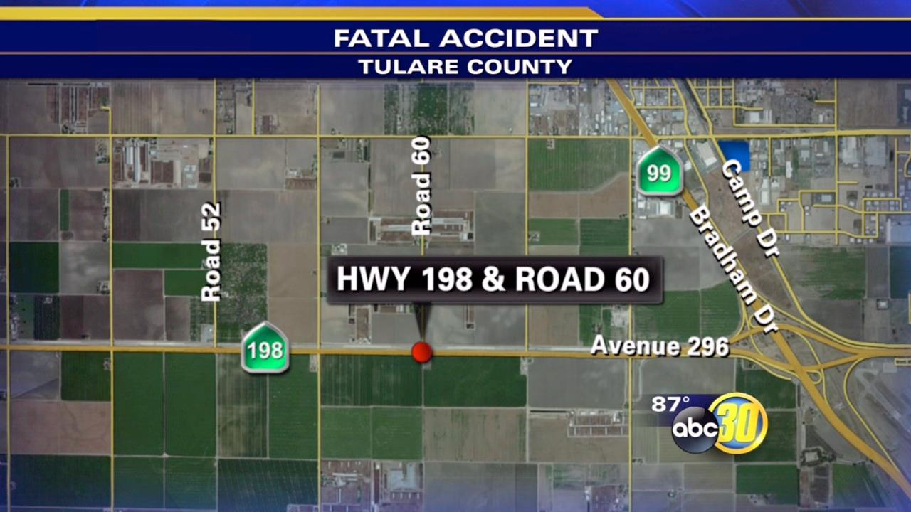 Fatal crash in Tulare County kills motorcyclist