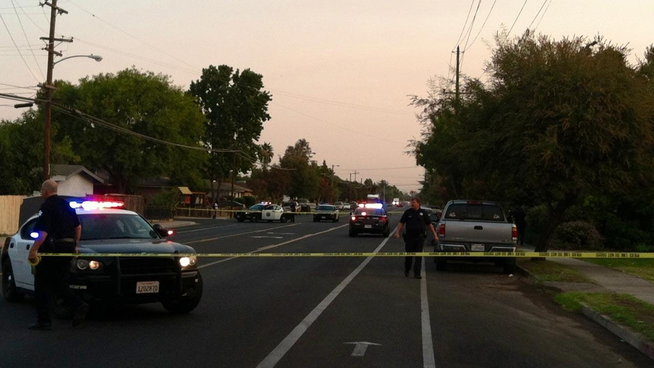 Stabbing scene off Hughes near Lorna in Central Fresno