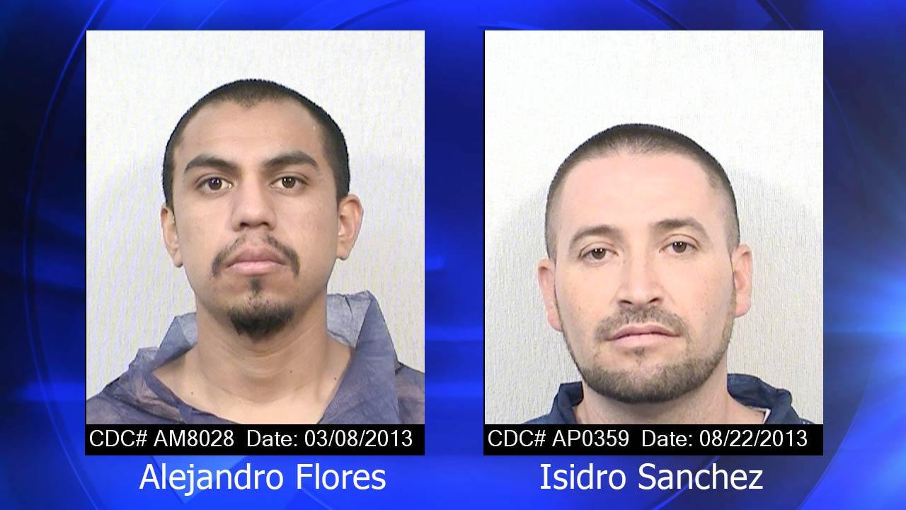 The two inmates have been identified as Alejandro Flores and Isidro Sanchez.