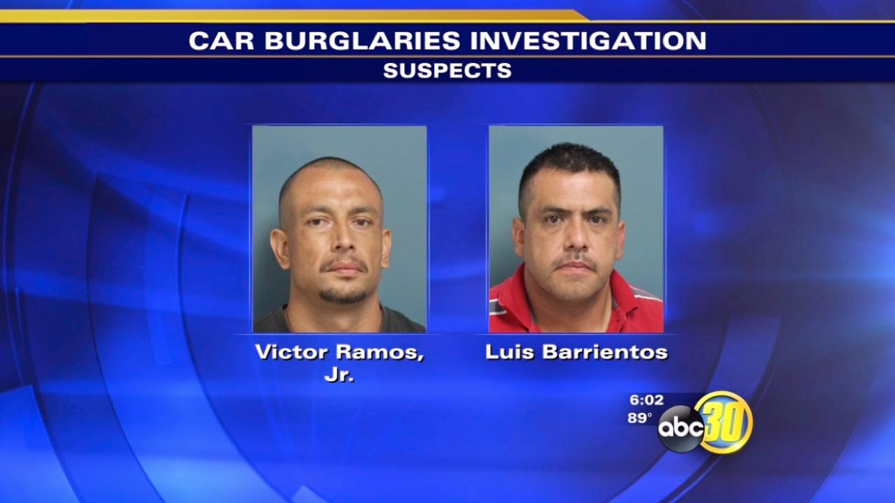 Visalia police arrest two men linked to several car burglaries
