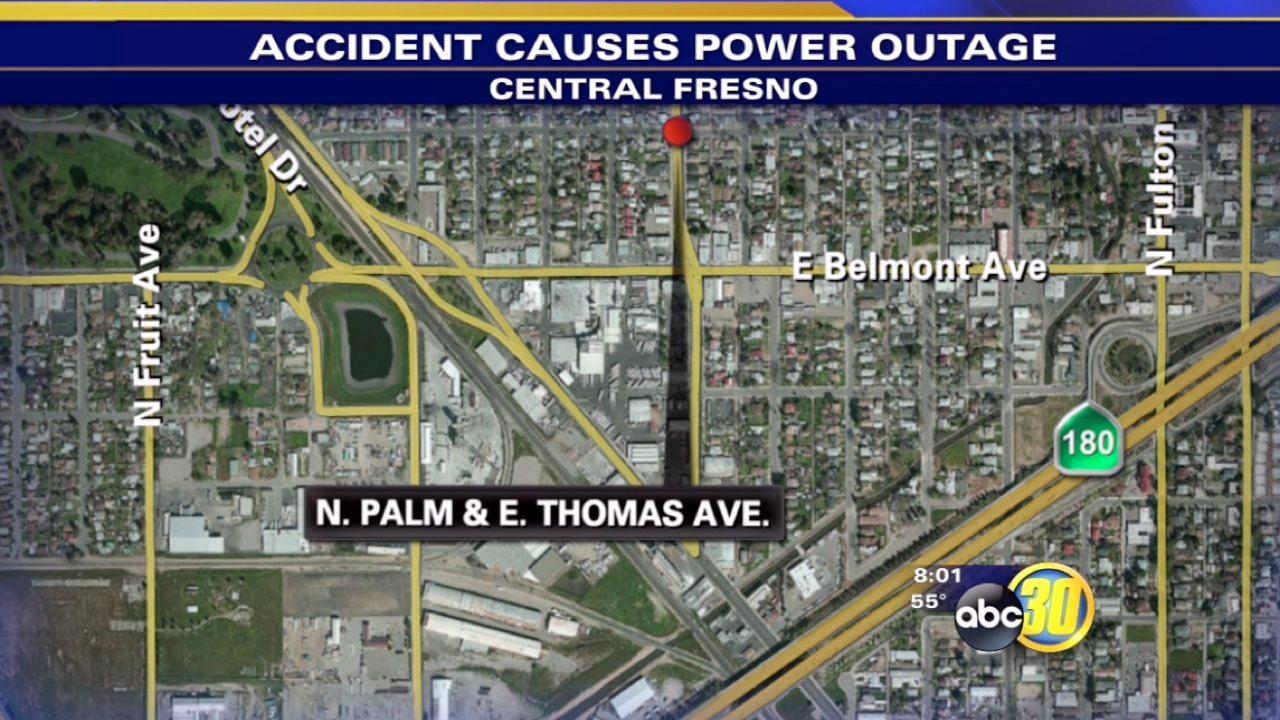 Suspected drunk driver may be to blame for Central Fresno Power outage