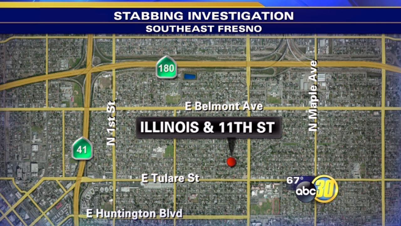 Police investigate Southeast Fresno stabbing