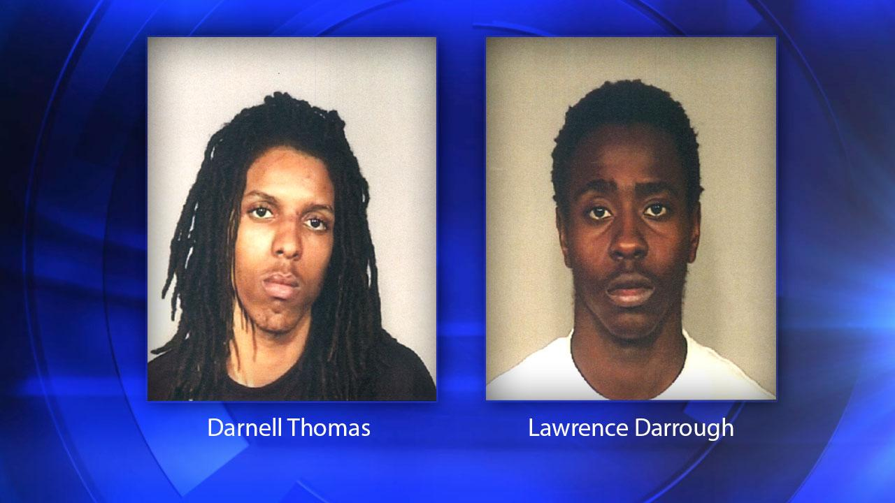 Police arrested 19-year-old Darnell Thomas and 18-year-old Lawrence Darrough.