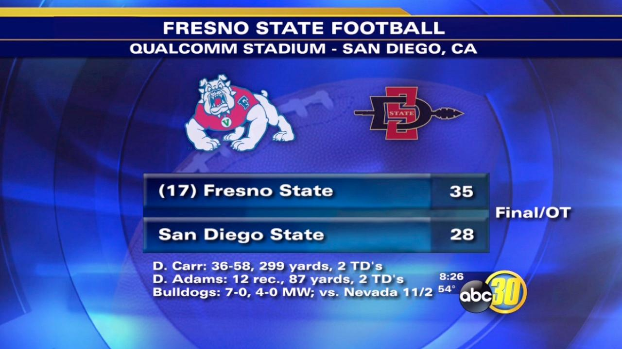 Fresno State beats SDSU in overtime