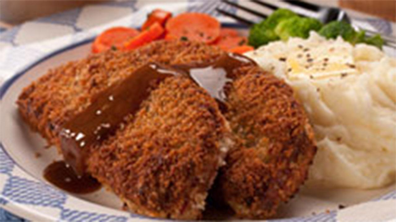 Crispy Fried Meat Loaf