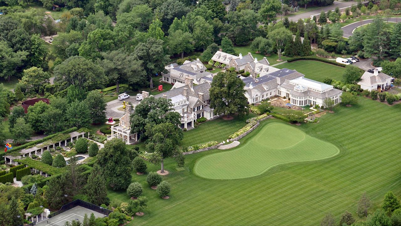 This aerial photograph shows the Greenwich, Conn. estate belonging to billionaire hedge fund owner Stephen Cohen, Friday, July 26, 2013.