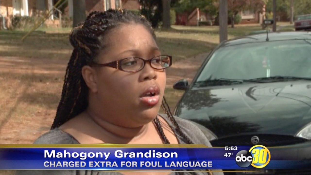 Mahogony Grandison had her car towed when she parked it illegally while visiting a friend.