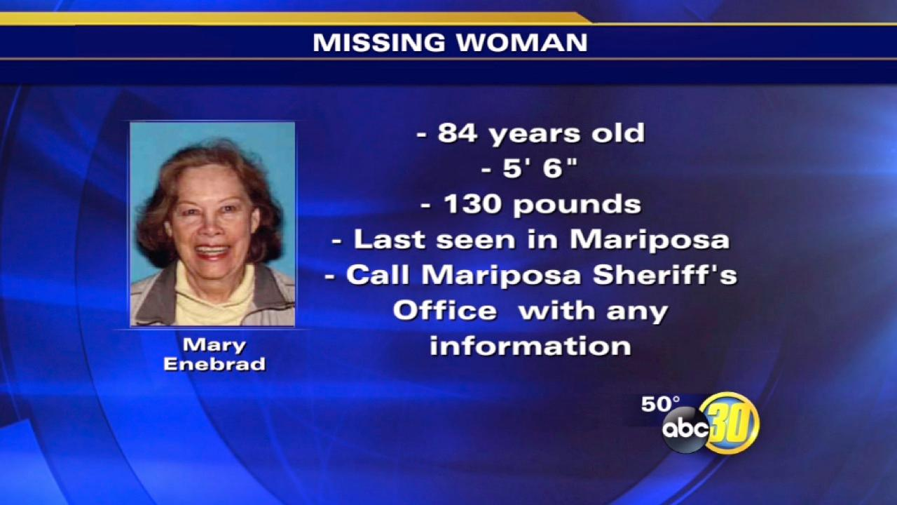 Mariposa County Sheriff's Office searches for missing 84-year-old woman