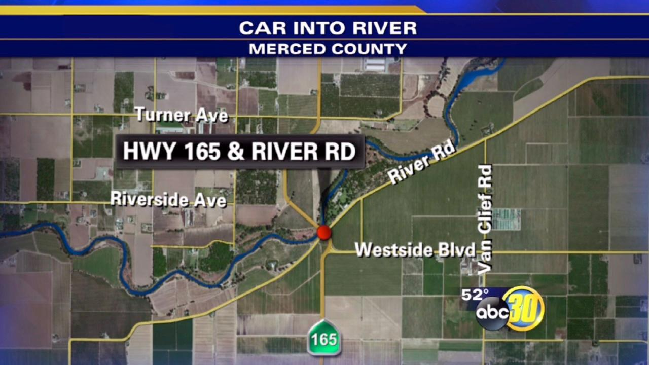 Man found dead in car in Merced River