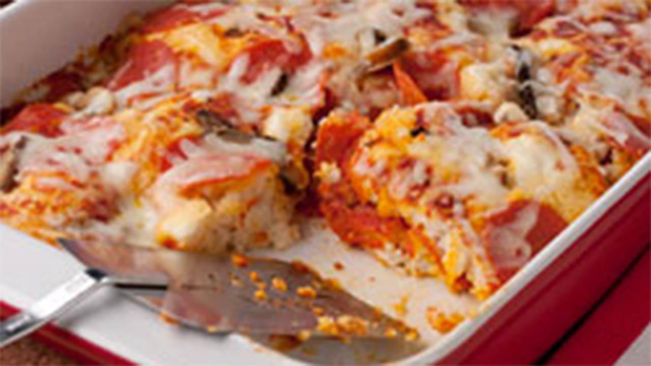 5-Ingredient Pizza Bake