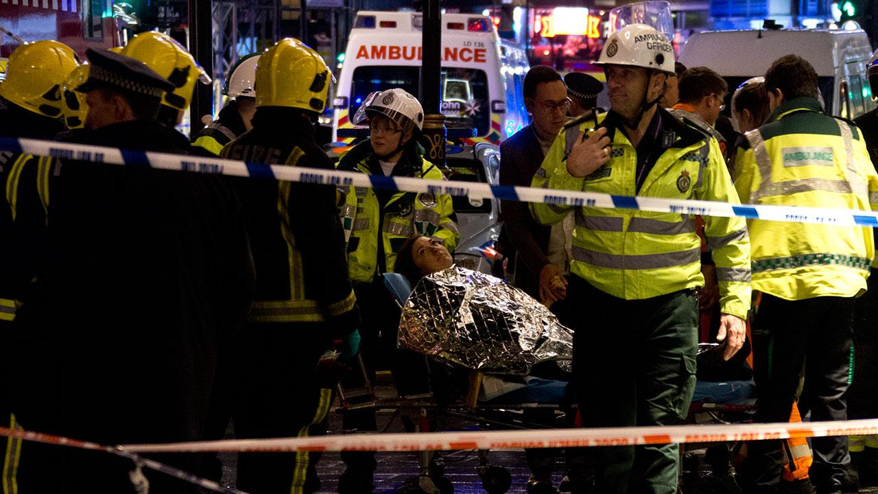 Dozens injured at partial London theater collapse