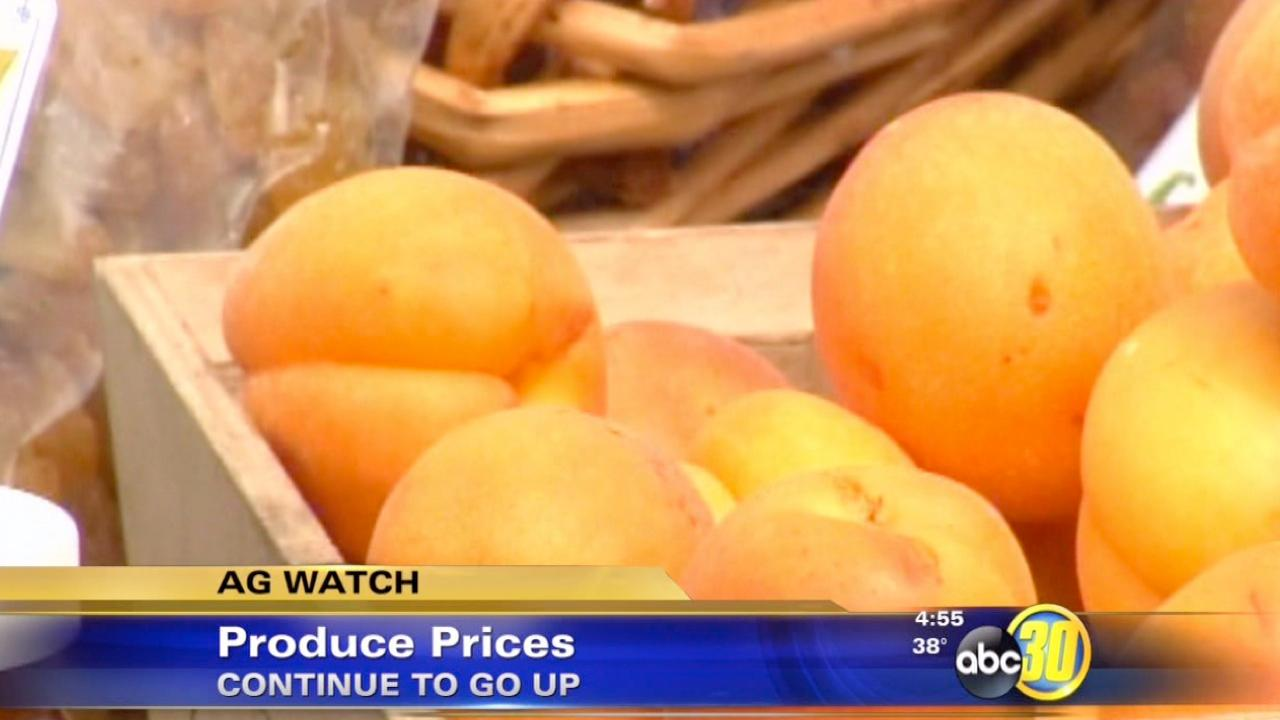 Prices for fresh fruits and vegetables increase