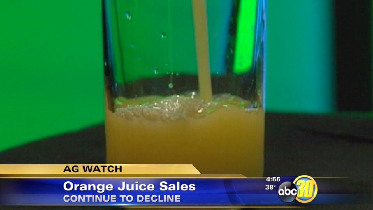 Sales of orange juice continue to decline