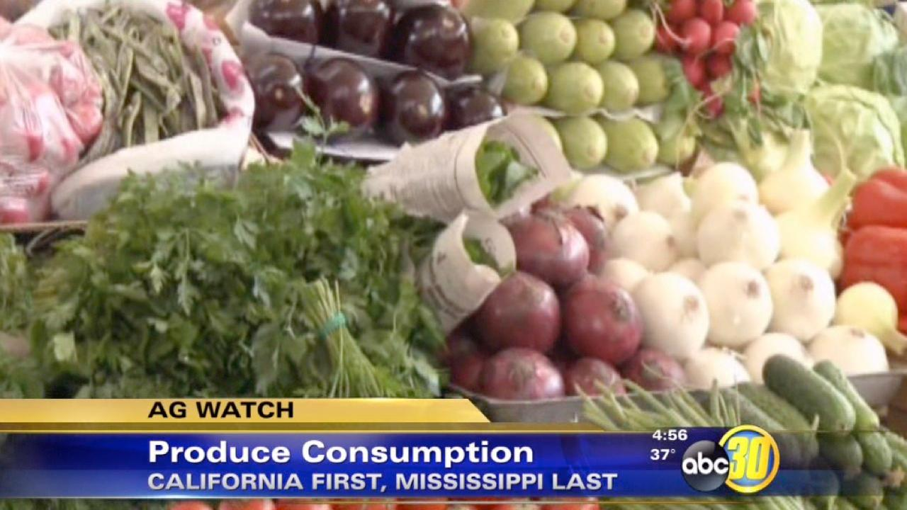California leads in consumption of fruits and vegetables