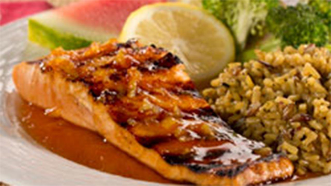 Watermelon-Glazed Salmon