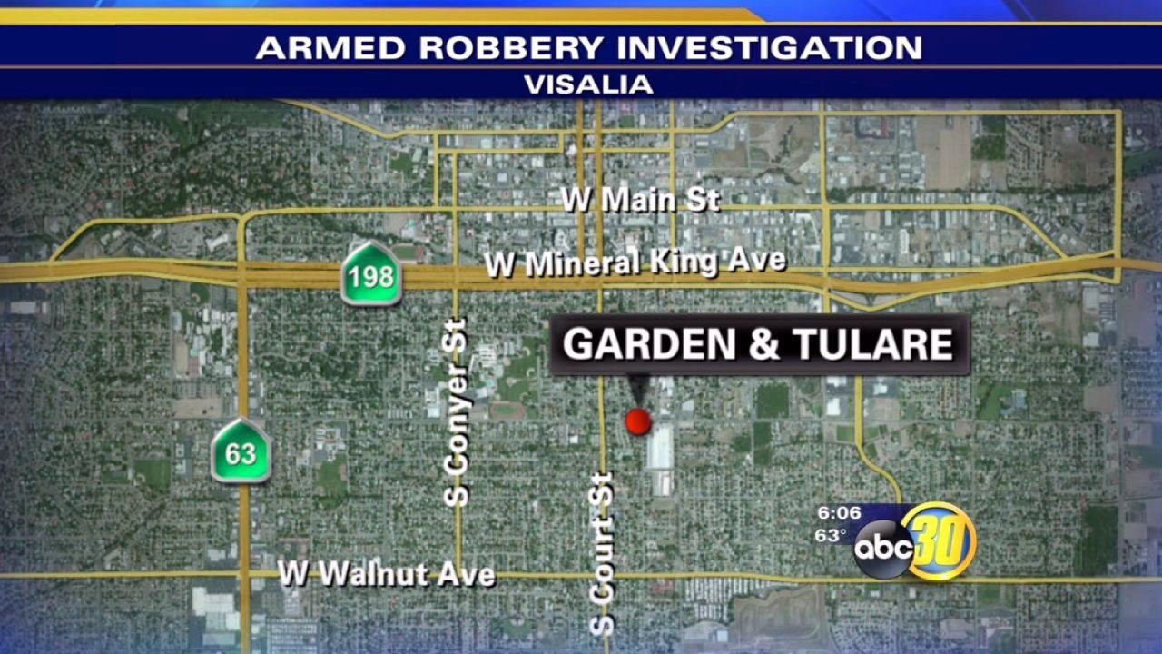 Visalia police search for armed robber