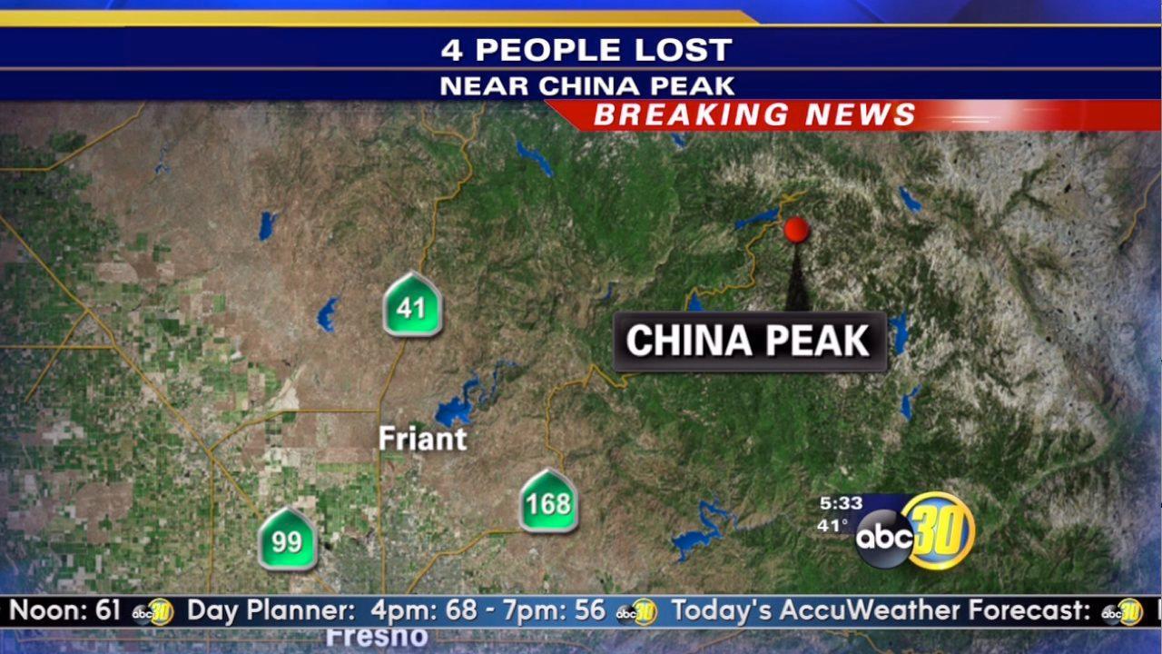 4 Missing China Peak hikers rescued