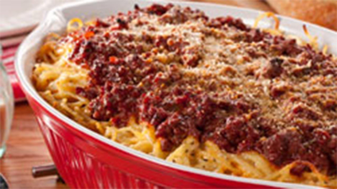 Baked Tuscan Spaghetti Casserole