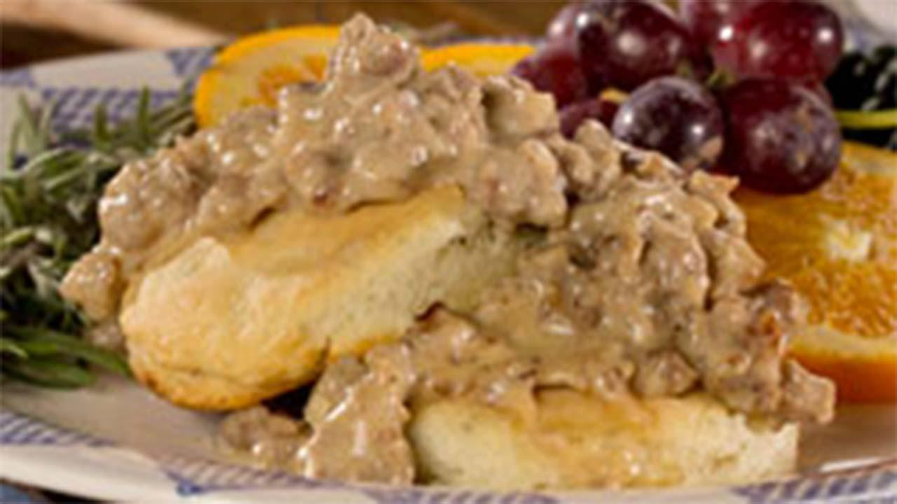 Rosemary Biscuits & Country Gravy