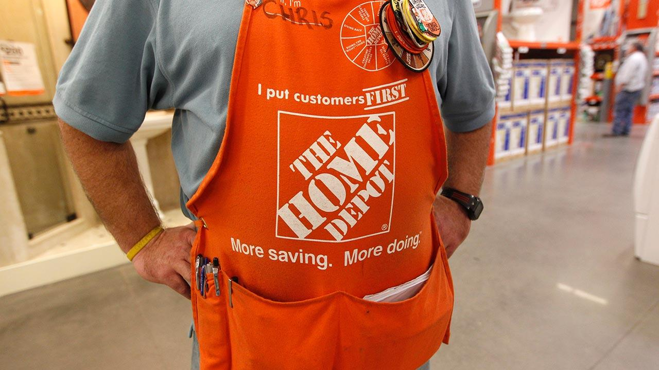 FILE: An employee at Home Depot