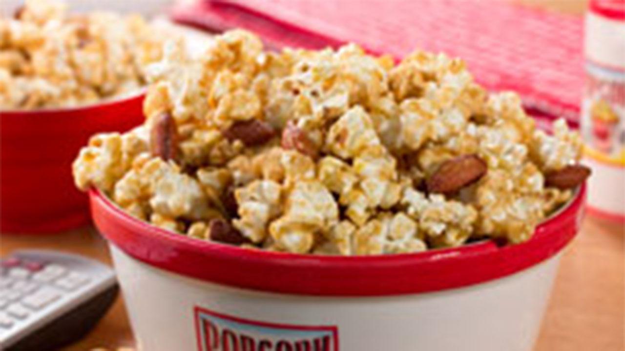 Caramel Nut Crunch Popcorn