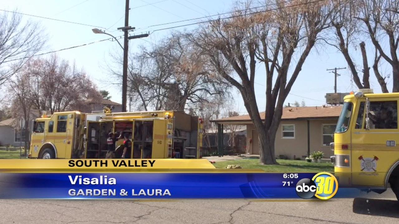 Visalia house fire