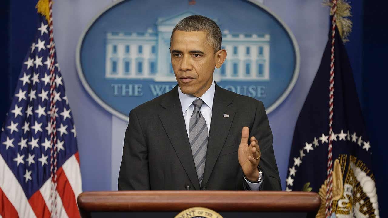 President Barack Obama talks about the situation in Ukraine, Thursday, March 6, 2014