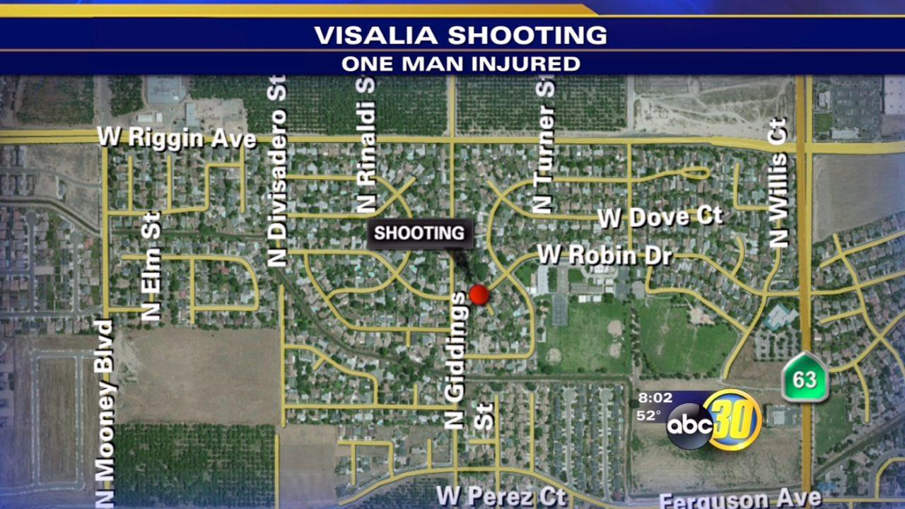 Visalia shooting sends man to hospital