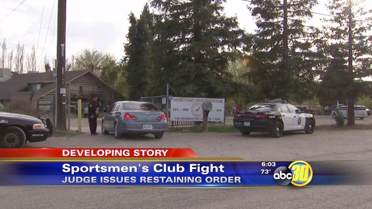 Restraining order issued in Sportsmens Club dispute