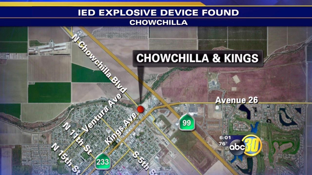 IED found at gas station in Chowchilla