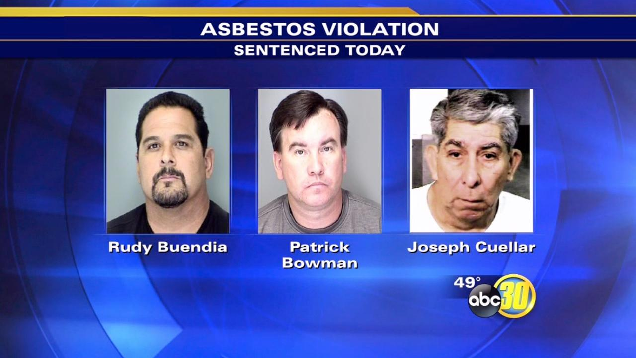 2 of 3 sentenced in Atwater asbestos violation