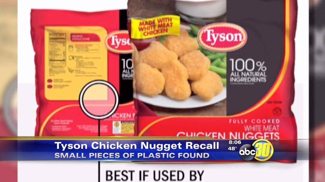 Tyson Foods recalling chicken nuggets