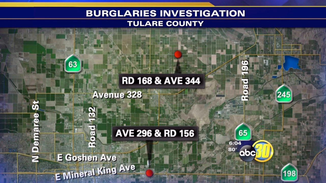 Burglaries at 2 Tulare County businesses probed