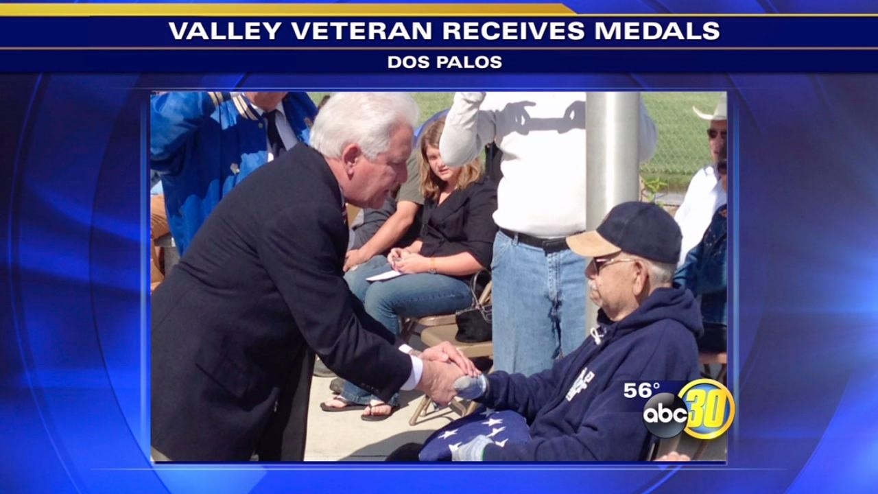 World War II veteran presented with medals in Dos Palos