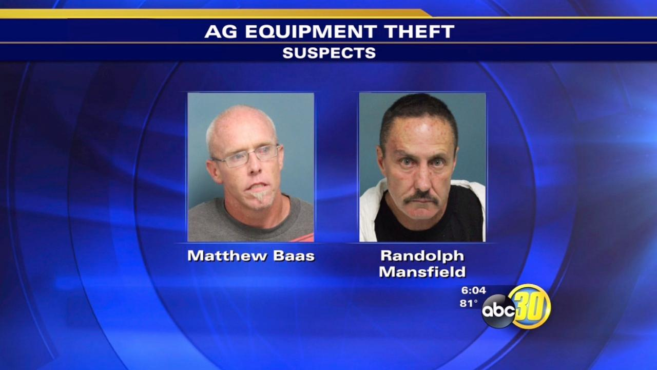 Deputies: 2 arrested for stealing Ag equipment