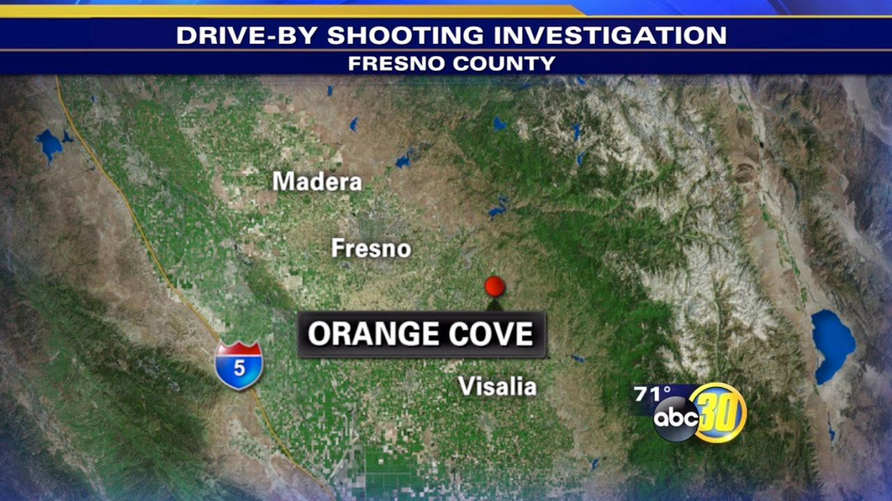 Orange Cove drive-by shooting injures man