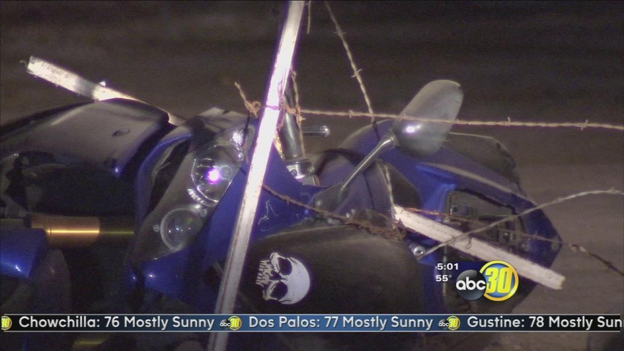 Police chase ends in motorcycle crash, arrest in Fresno