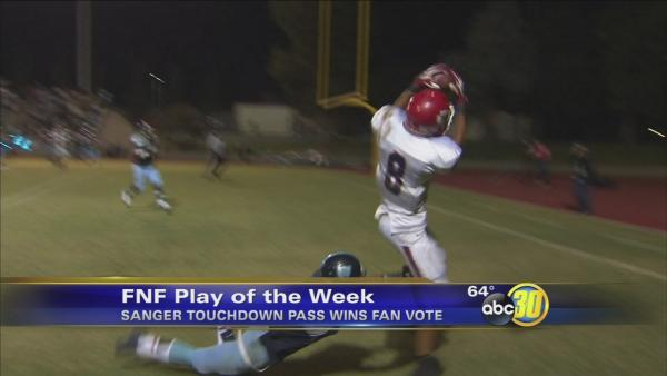 Sanger Aerial Connection for Six wins Play of the Week