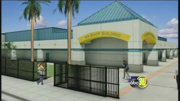 Work underway to replace burned Dos Palos High School building