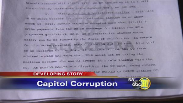 FBI says Senator Ronald Calderon took bribes from undercover agents