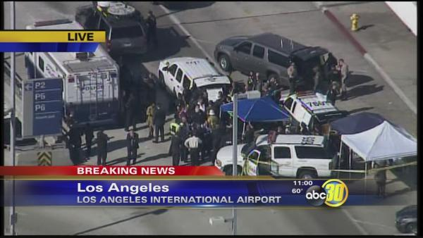 Suspect and at least 3 shot in LAX shooting