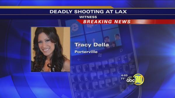 Porterville newlyweds caught amongst LAX shooting